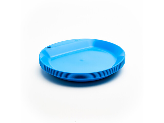 Wildo Camper Plate Flat Set d'autocollants Unicolore 6x, light blue